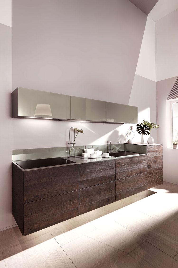 Modello di cucina lineare moderna di Lago n.02