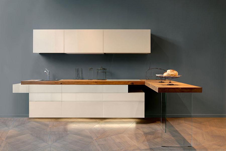 Modello di cucina lineare moderna di Lago n.03