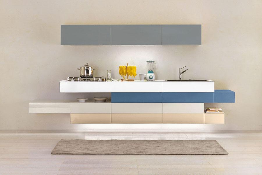Modello di cucina lineare moderna di Lago n.04