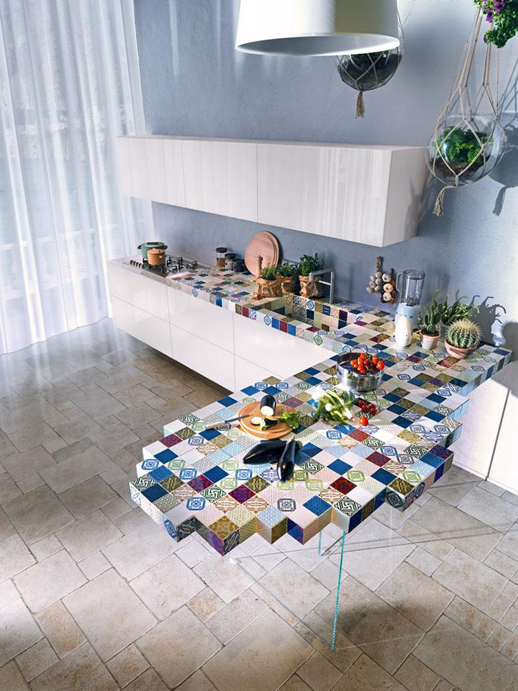 Modello di cucina lineare moderna di Lago n.05