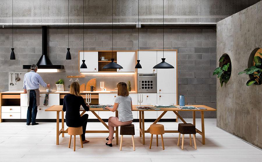 Modello di cucina lineare moderna di Schiffini n.01