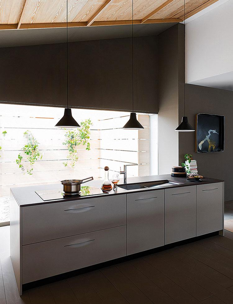 Modello di cucina lineare moderna di Schiffini n.02
