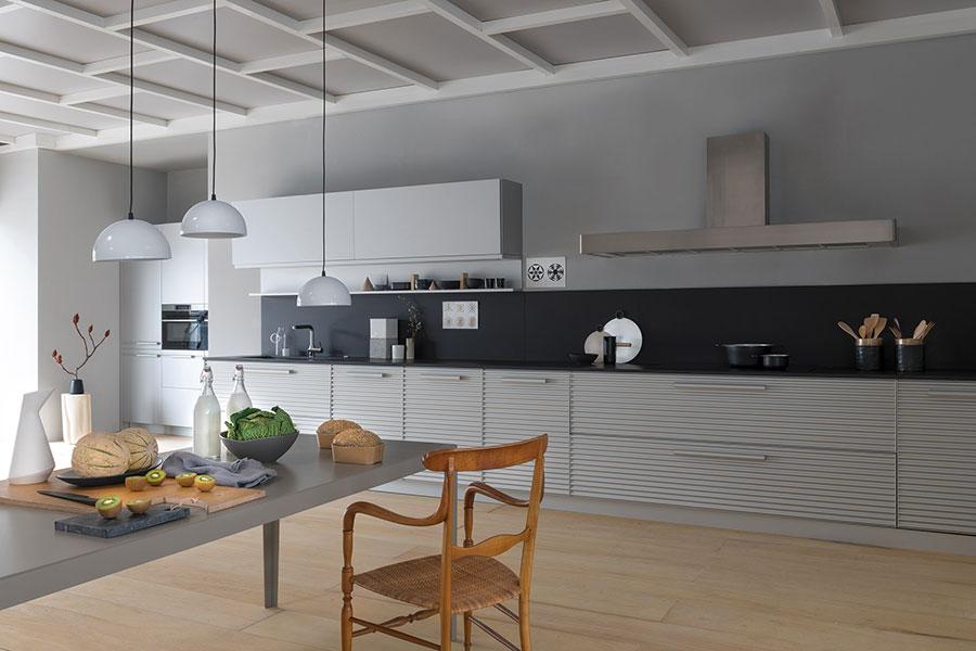 Modello di cucina lineare moderna di Schiffini n.03