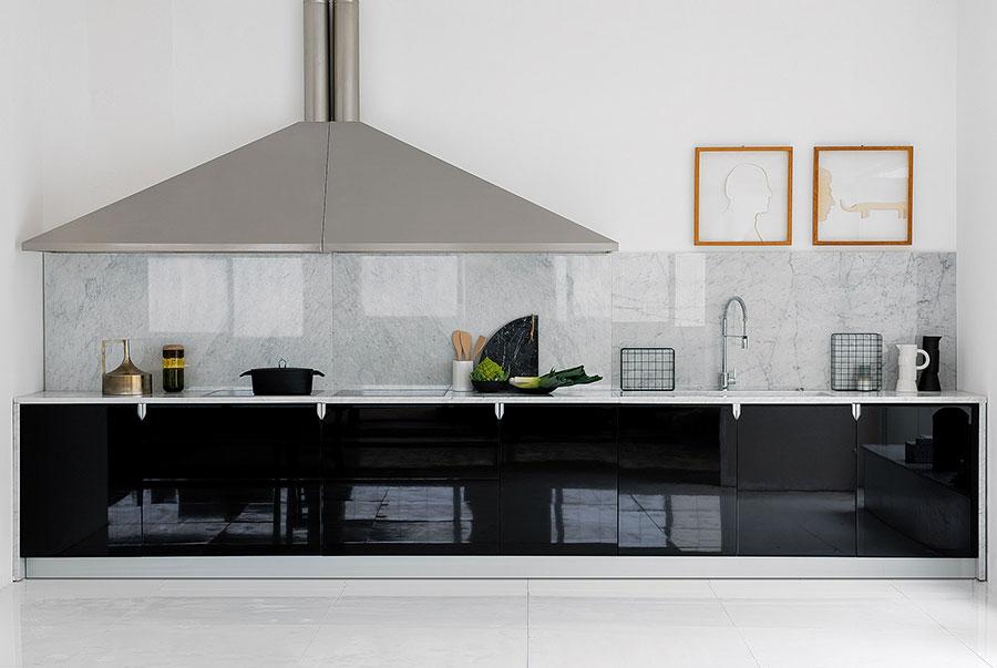 Modello di cucina lineare moderna di Schiffini n.04