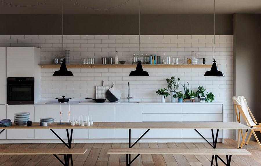 Modello di cucina lineare moderna di Schiffini n.05