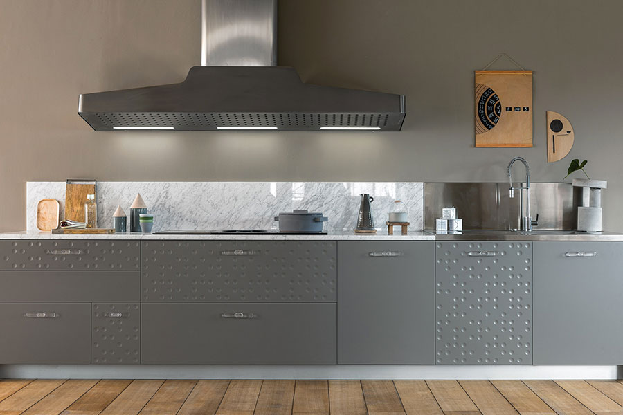 Modello di cucina lineare moderna di Schiffini n.06