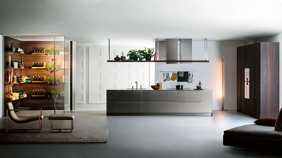 Modello di cucina lineare moderna di TM Italia n.01