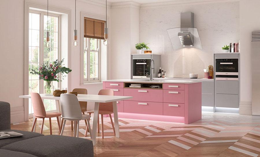 Modello di cucina rosa n.01