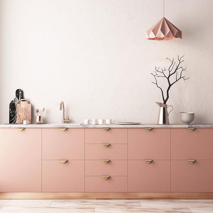 Modello di cucina rosa n.10