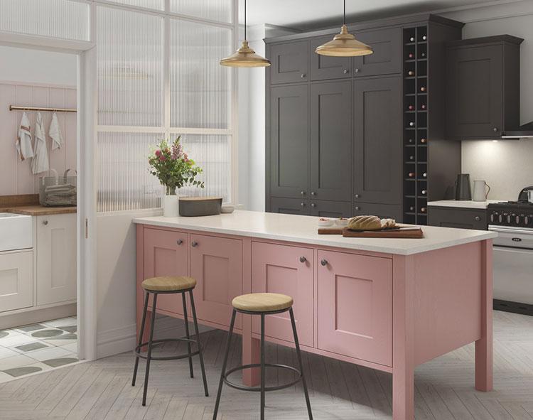 Modello di cucina rosa n.11