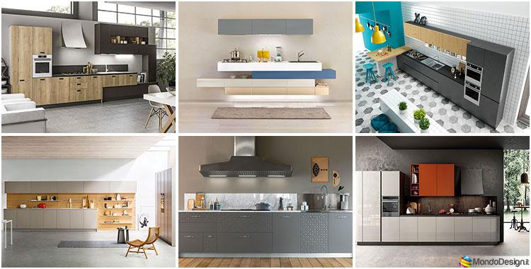 Cucina lineare moderna 35 modelli delle migliori marche - Migliori marche di cucine ...