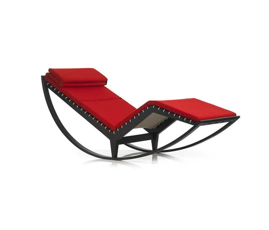 Sedia a dondolo di design modello 837 Canapo di Cassina