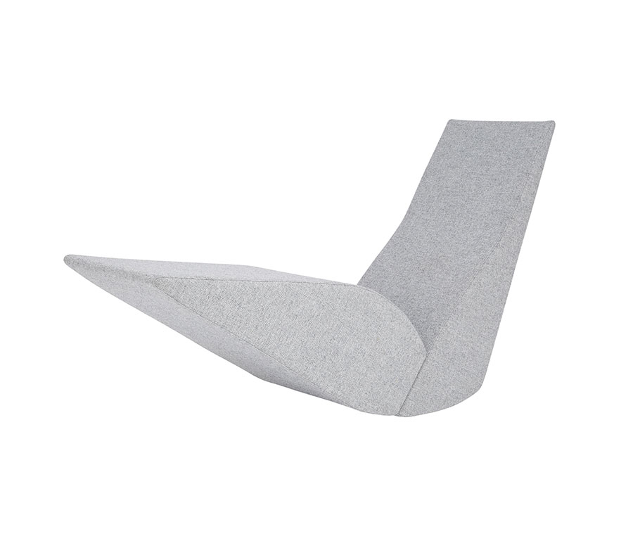 Sedia a dondolo di design modello Bird Chaise di Tom Dixon