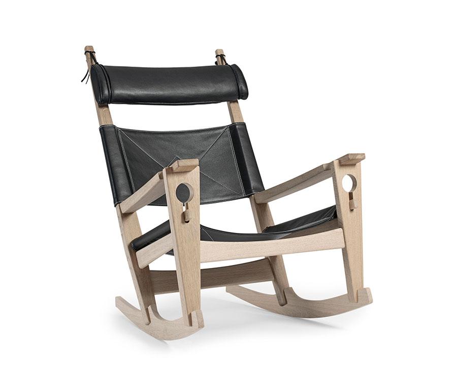 Sedia a dondolo di design modello GE 673 di Getama Danmark