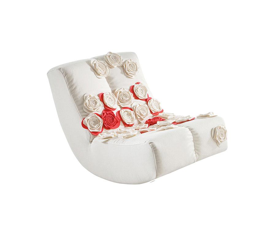 Sedia a dondolo di design modello Lucky di Bruhl