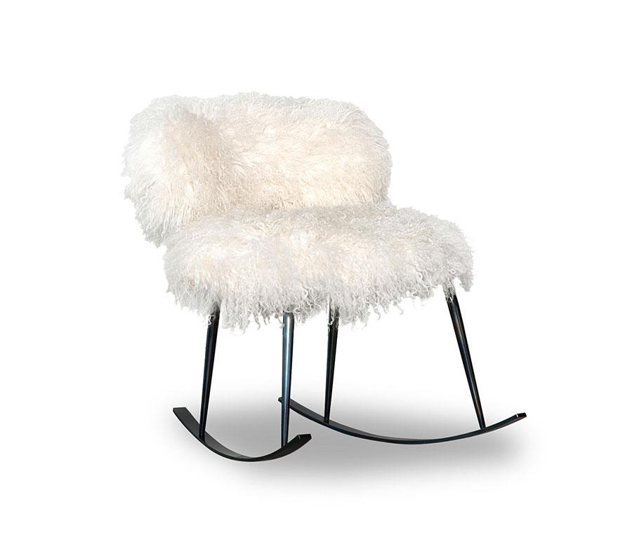 Sedia a dondolo di design modello NEPAL di Baxter