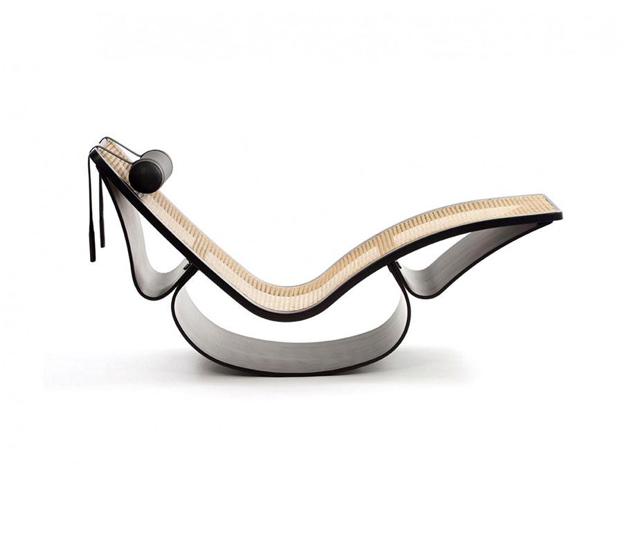 Sedia a dondolo di design modello Rio di Espasso