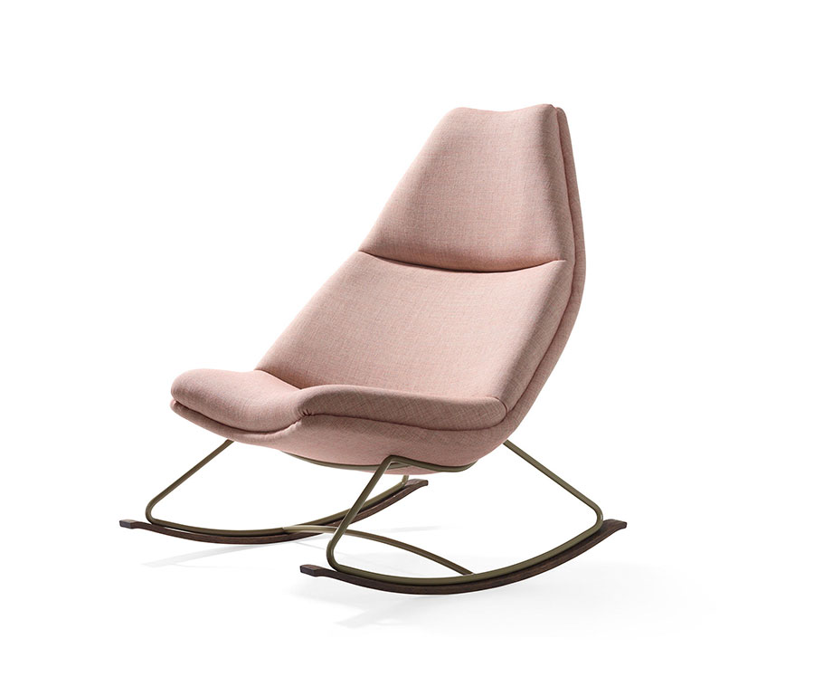 Sedia a dondolo di design modello Rocking Chair di Artifort
