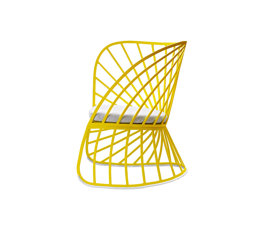 Sedia a dondolo di design modello Sol di Molteni
