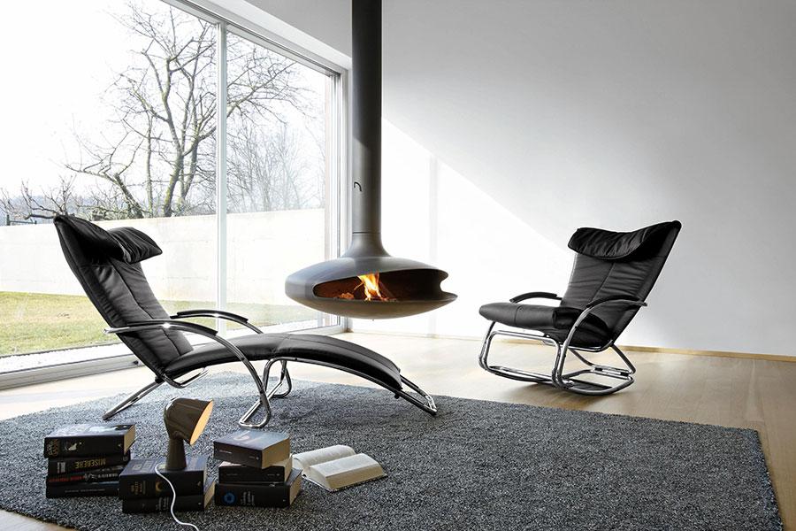 Sedia a dondolo di design modello Swing di Bonaldo