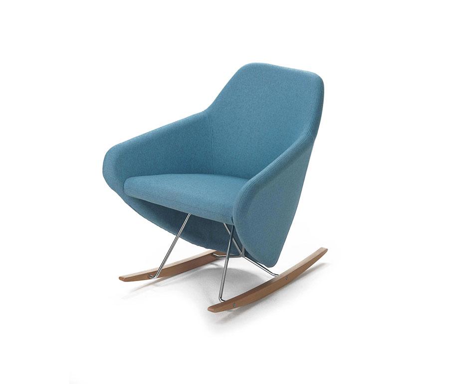 Sedia a dondolo di design modello Taxido di Segis