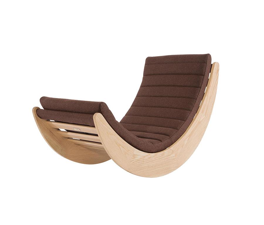 Sedia a dondolo di design modello Verner Panton Relaxer One Chair di NORR11