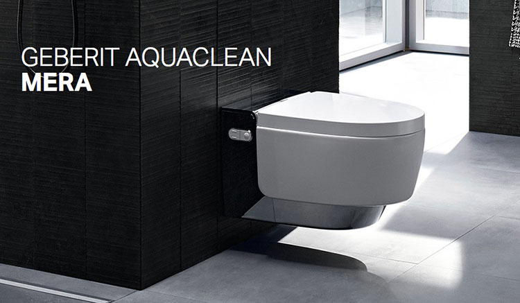 Modello di Wc con bidet integrato Geberit Aquaclean 02