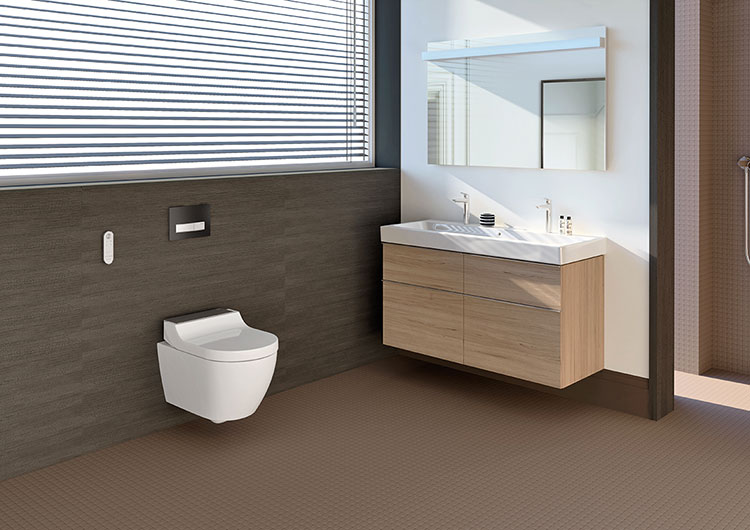Modello di Wc con bidet integrato Geberit Aquaclean 03