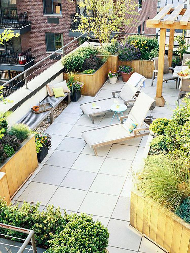 Idee per creare un giardino in terrazzo n.05