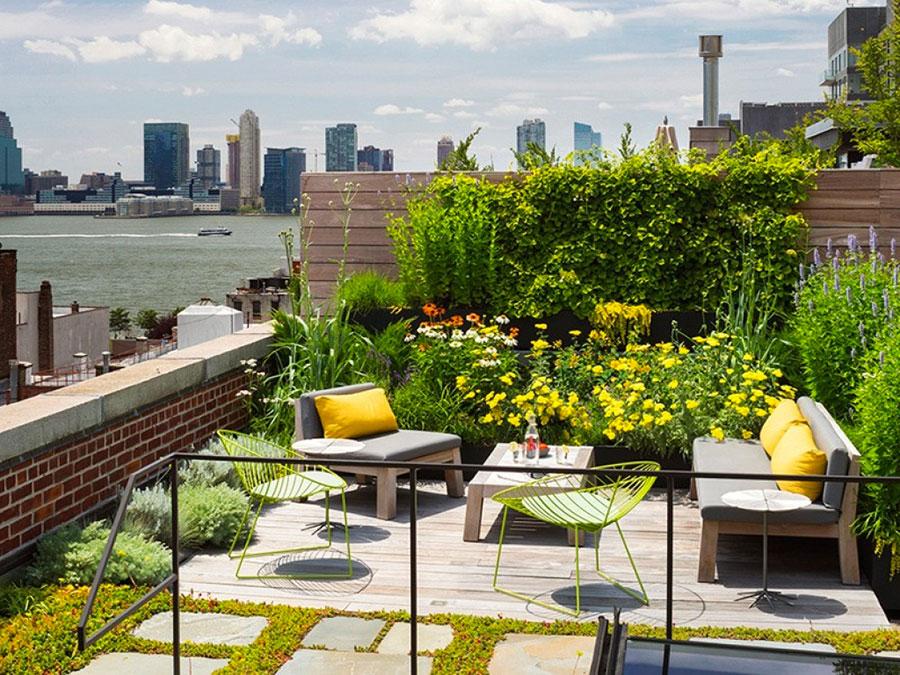 Idee per creare un giardino in terrazzo n.09