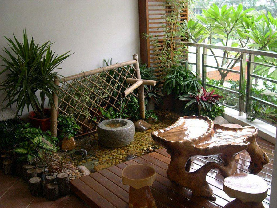Idee per creare un giardino zen in terrazzo n.01