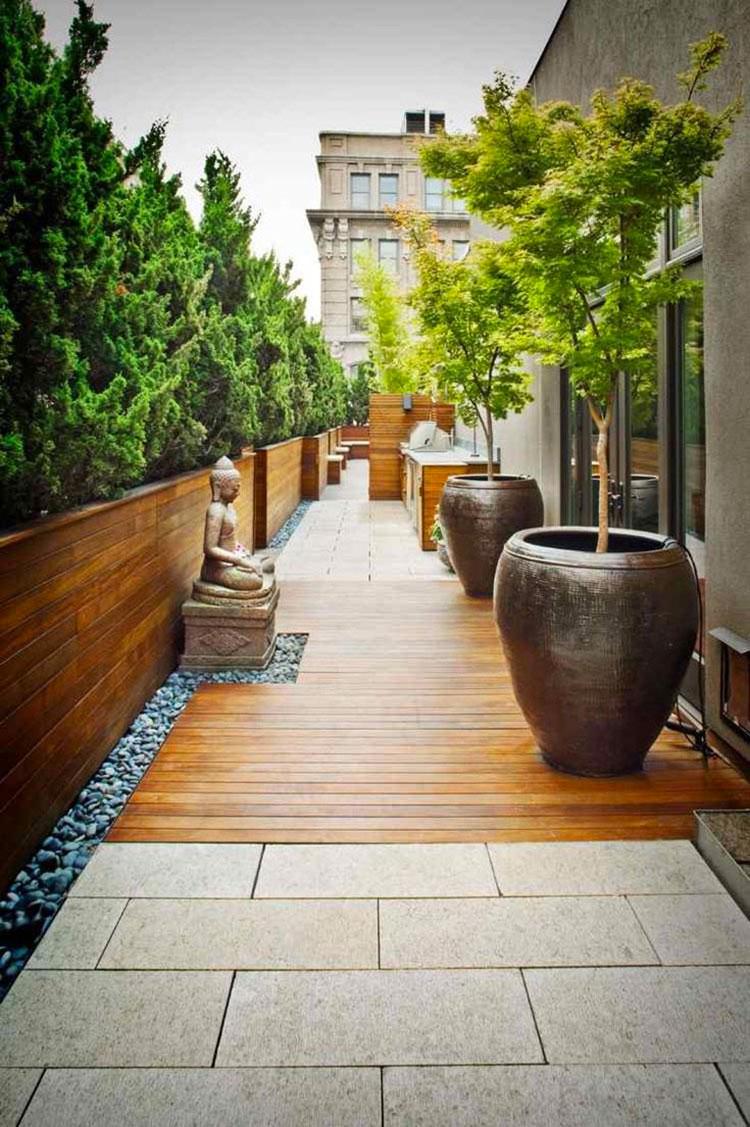 Idee per creare un giardino zen in terrazzo n.02