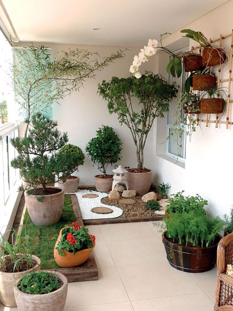 Idee per abbellire un terrazzo con piante e fiori n.7