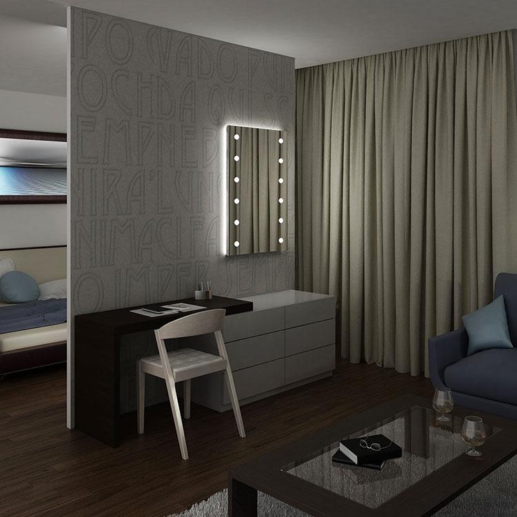 Modello di specchio per camera da letto di design n.02