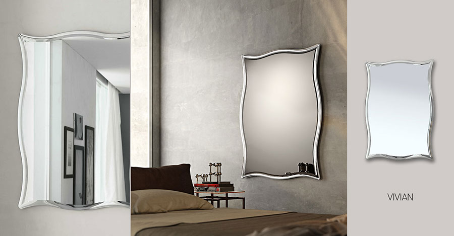 Modello di specchio per camera da letto di design n.03
