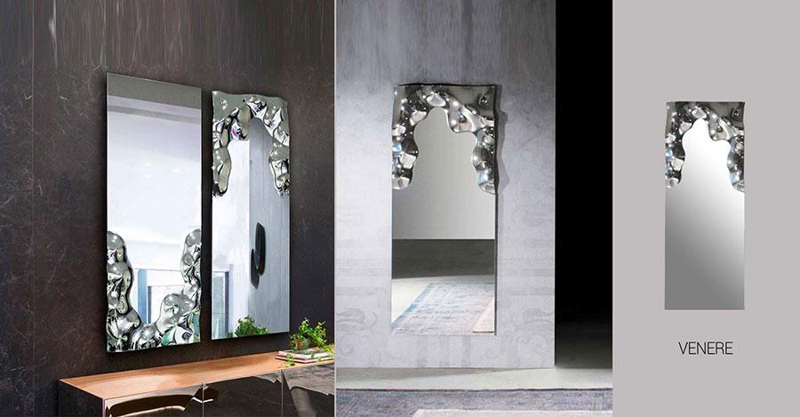 Modello di specchio per camera da letto di design n.04
