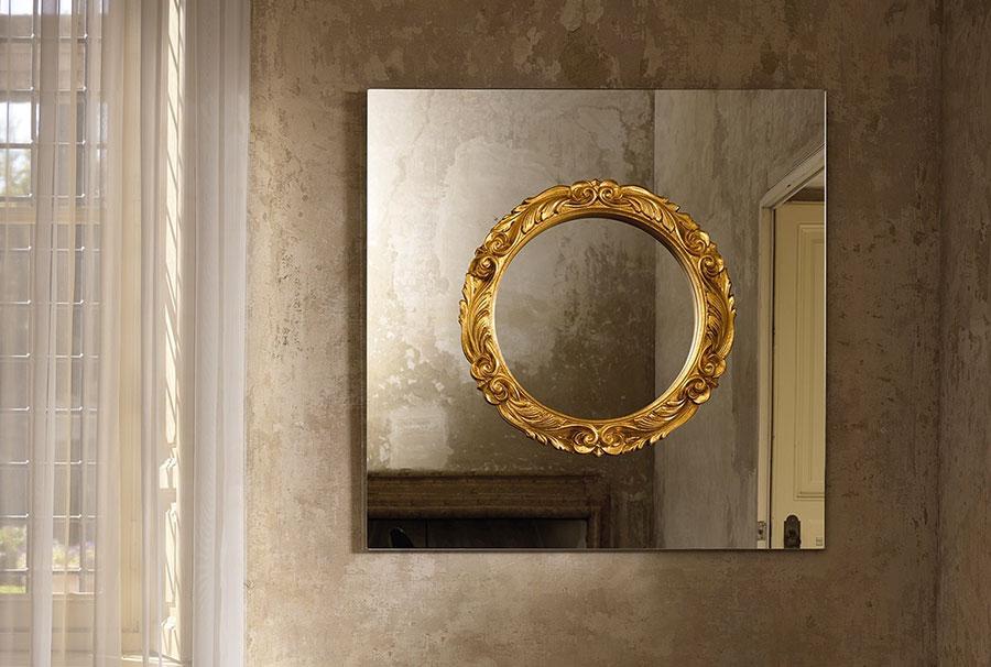 Modello di specchio per camera da letto di design n.13