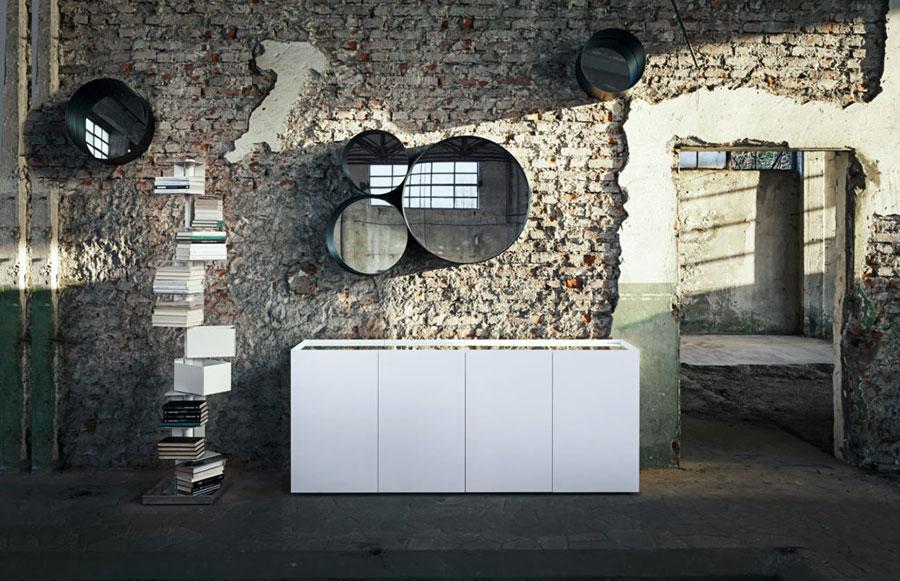 Modello di specchio per camera da letto di design n.22