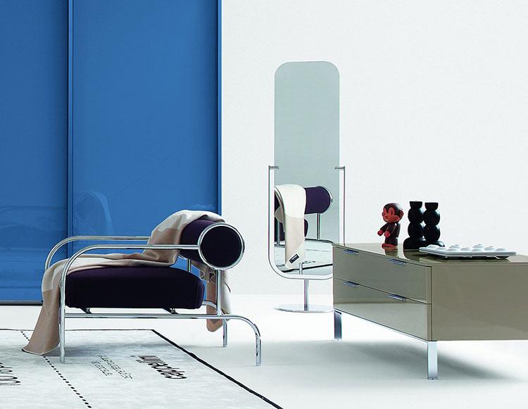 Modello di specchio per camera da letto di design n.23