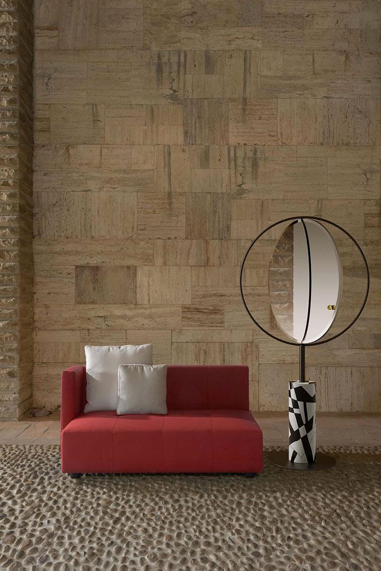 Modello di specchio per camera da letto di design n.25
