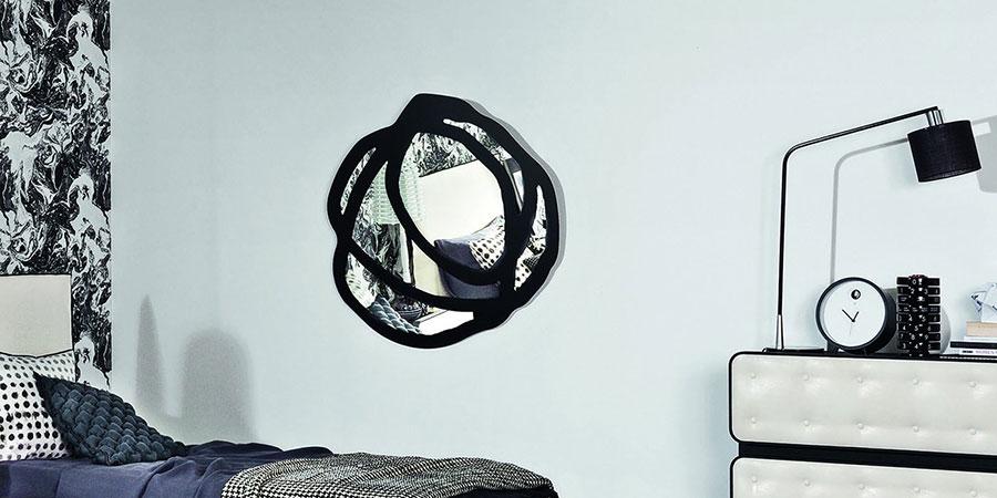 Modello di specchio per camera da letto di design n.26