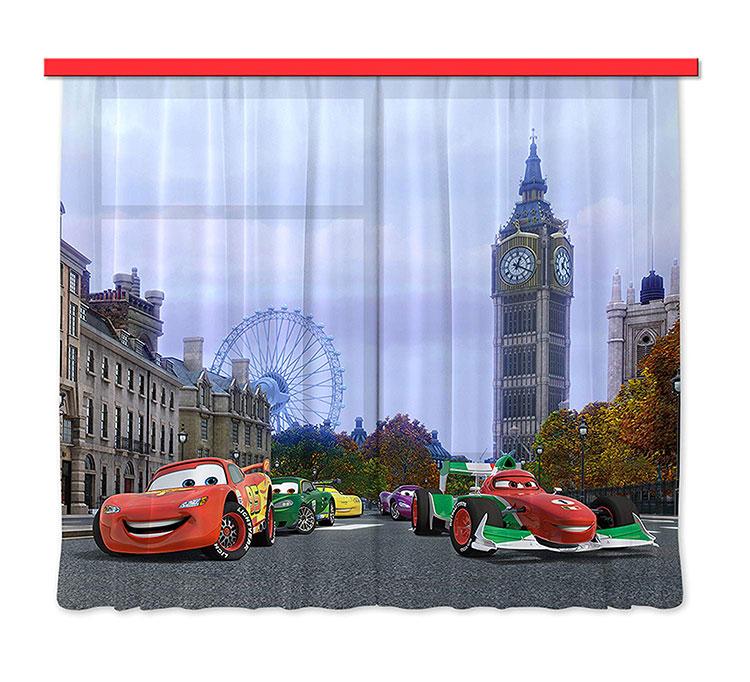 Modello di tenda per cameretta Disney di Cars n.01