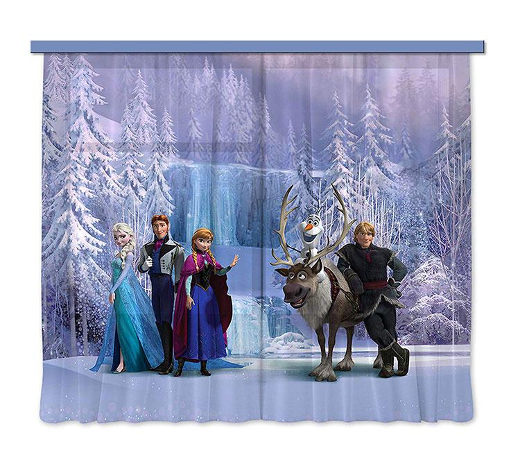 Modello di tenda per cameretta Disney di Frozen n.01