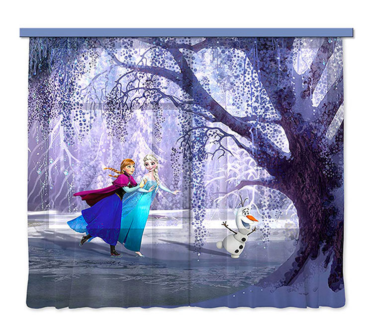 Modello di tenda per cameretta Disney di Frozen n.02