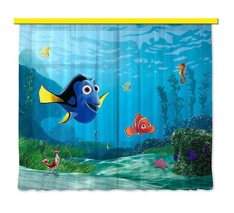 Modello di tenda per cameretta Disney di Nemo n.01