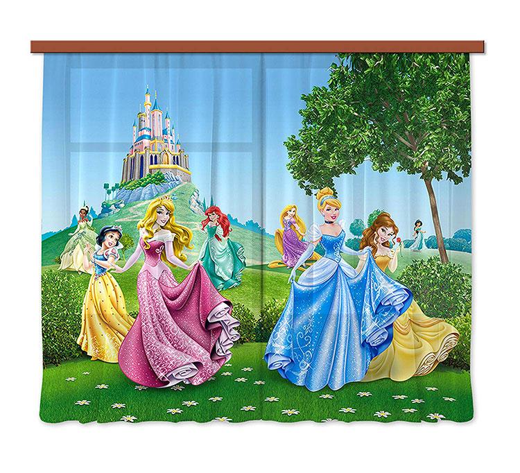 Modello di tenda per cameretta delle principesse Disney n.01