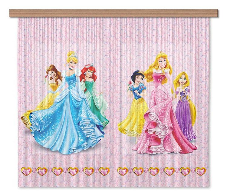 Modello di tenda per cameretta delle principesse Disney n.02