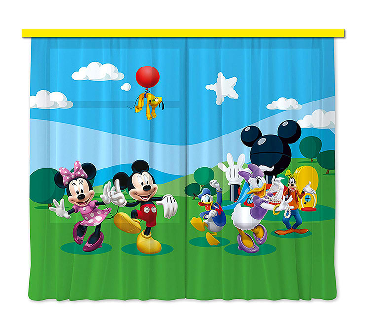 Modello di tenda per cameretta Disney di Topolino n.01