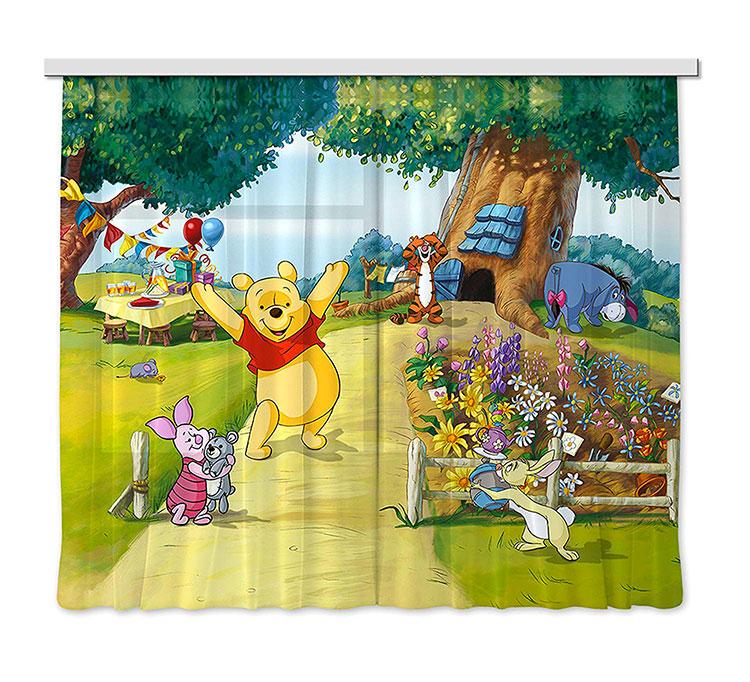 Modello di tenda per cameretta Disney di Winnie The Pooh n.02