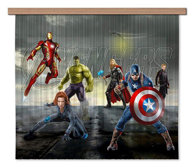Modello di tenda per cameretta degli Avengers n.01